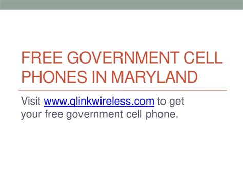 free government cell phone service free government cell phones in maryland