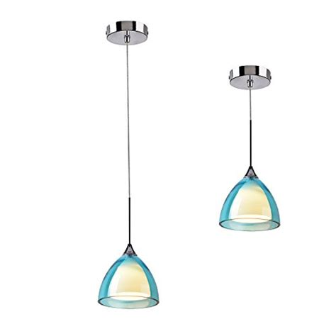 authentic obsess mini led blue pendant light ajustable