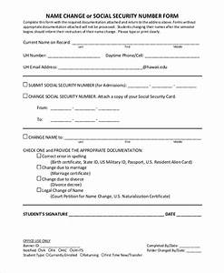 Sample social security name change form 7 examples in pdf for Documents needed to change name on social
