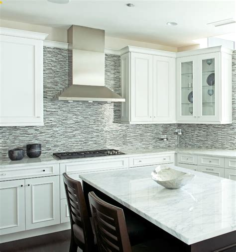 white kitchen glass backsplash gray glass kitchen tiles brown gray glass mosaic