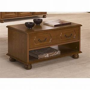 Table Basse Rustique : table basse ch ne rustique rectangle beaux meubles pas chers ~ Teatrodelosmanantiales.com Idées de Décoration