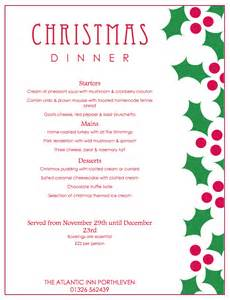 christmas party menu and new year s eve dinner 2015 the atlantic inn