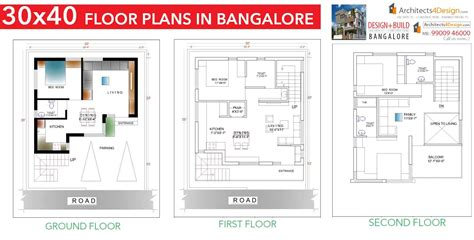 30x40 house plans in bangalore for g 1 g 2 g 3 g 4 floors