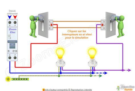 schema electrique 2 les 1 interrupteur schma va et vient schema lectrique interactif dun va et vient