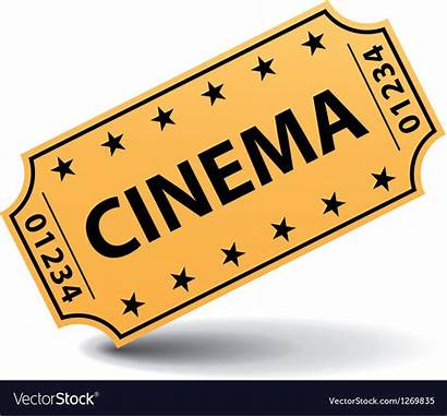 Ticket Cinema Vector Yellow Tickets Cine Shadow