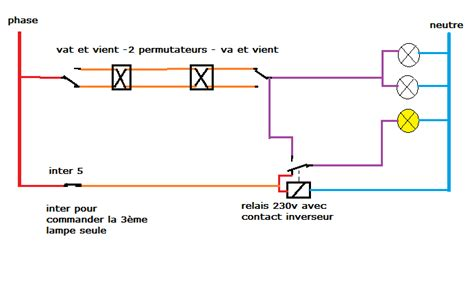 va et vient 3 interrupteurs 2 les branchement 6 interrupteurs bricolage 233 lectricit 233 brancher interrupteurs va et vient 2