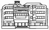 Hospital Coloring Pages Template Modern Building Cartoon sketch template