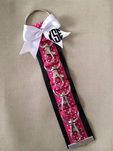 monogram bookbag cheerleader cheer bow holder backpack cheer bow keychain great summit