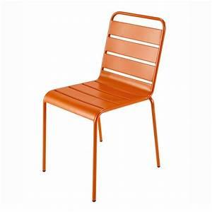 Chaise De Jardin Metal : chaise de jardin en m tal orange batignolles maisons du ~ Dailycaller-alerts.com Idées de Décoration