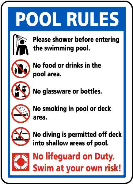 Pool Rules Sign F6976  Safetysigncom