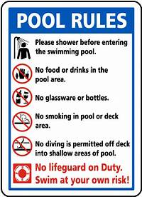 pool rules sign Pool Rules Sign F6976 - SafetySign.com