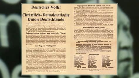 partei christlich demokratische union deutschlands