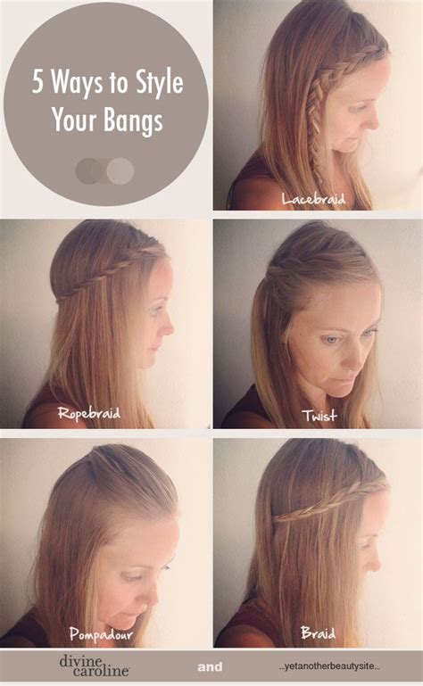 ways to style your hair 5 and easy ways to style your bangs bangs easy 6773