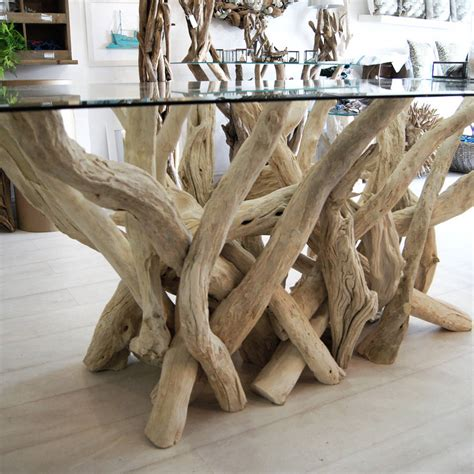rectangular driftwood dining table  doris brixham