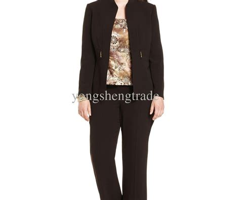 Dress Barn Formal Pant Suits Womens 2pc Gray Suit Pants