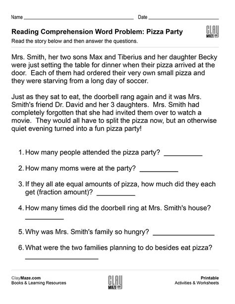 important year 6 reading comprehension worksheets