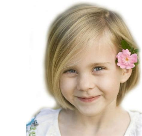 short bob with side swept bangs for kids michele s