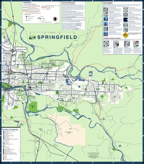 Springfield Bike Map