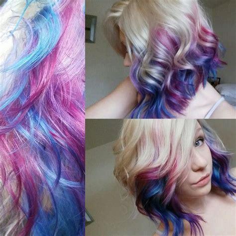 blonde hair  galaxy colors     hair