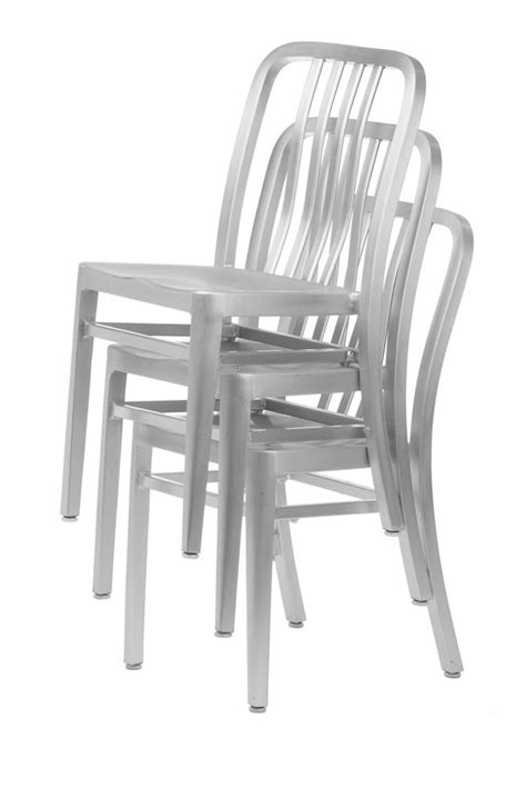 aluminum navy style restaurant chair stackable