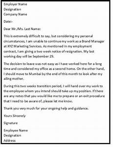 25 best ideas about sample of resignation letter on With job mailing letters from home