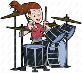 Cartoon Drum Set Clip Art