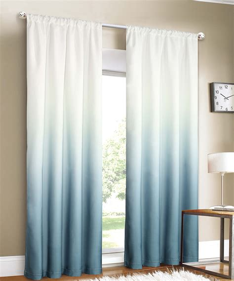 blue ombre curtains trendy ombre curtains in cold warm and neutral hues