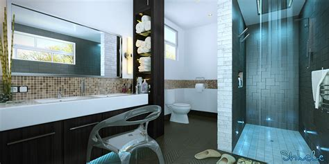 Bathrooms Designs - 3ds max tutorial modern bathroom visualisation in photoshop v ray