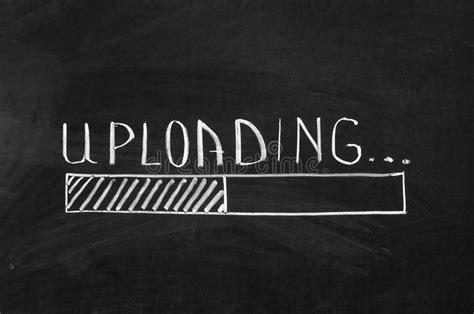 Uploading Stock Image. Image Of Modern, Chalkboard