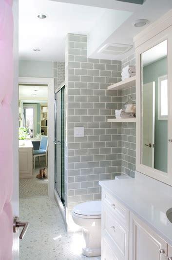 backsplash tile ideas for small kitchens gray subway tile contemporary bathroom kristin peake