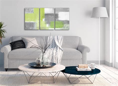 piece lime green grey hallway canvas pictures decor