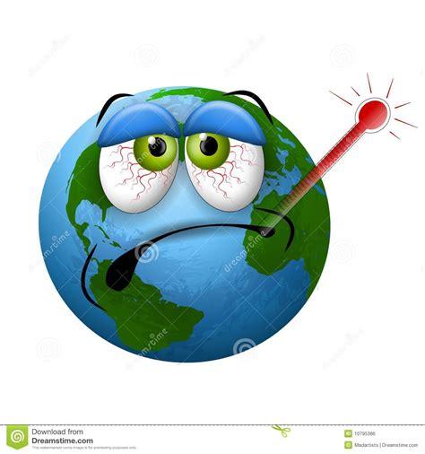 bureau architecture thermomètre malade de la terre de planète image libre de