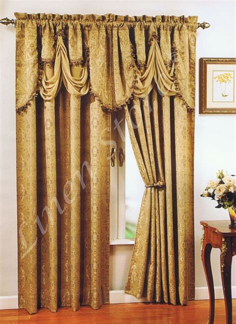Gold Drapery Panels - great quality window curtain jacquard panel regal home