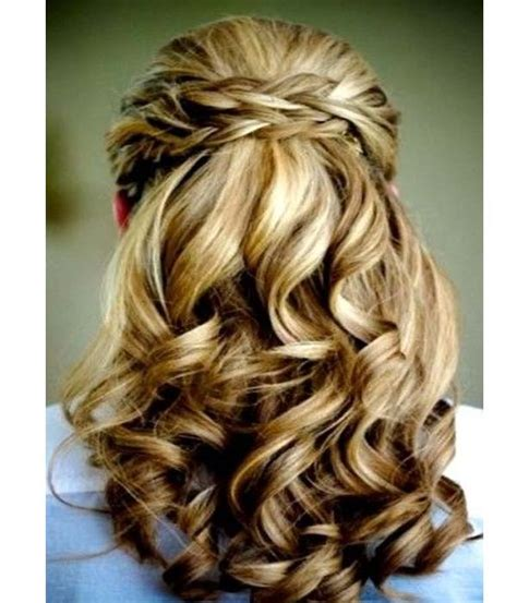 half up half down formal hairstyles for long hair
