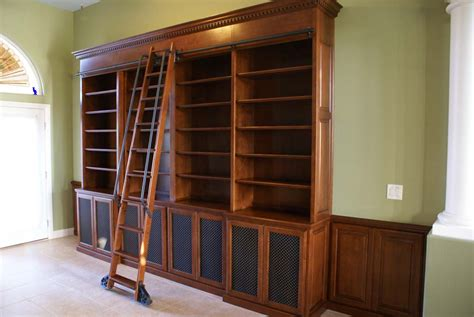 library bookcase with ladder custom bookcases with library ladders platinum cabinetry