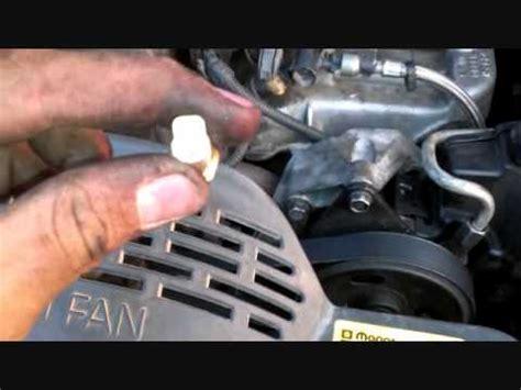 replace temperature sensor  jeep grand cherokee youtube