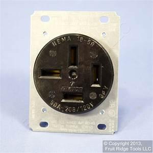 Leviton Receptacle Power Outlet 18 208v 3 U00d8y