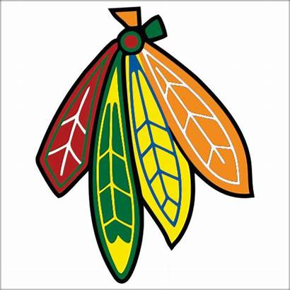 Blackhawks Chicago Hockey Feather Clipart Custom Logos