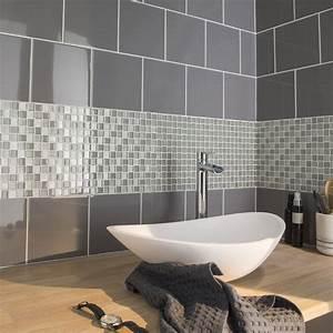 carrelage salle de bain gris galet With galet carrelage salle de bain