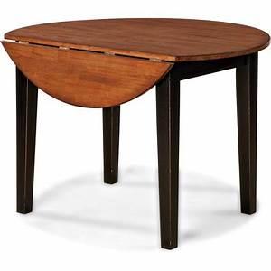 Imagio Home Drop Leaf Arlington Dining Table Black And