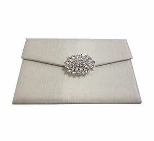 embellished silk wedding pouch denniswissercom luxury With silk envelope wedding invitations