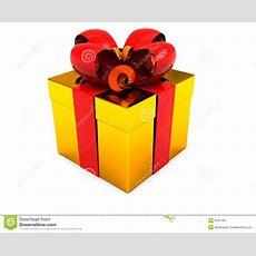 Gold Present Box Stock Illustration Image Of Gold, Winter 8541189
