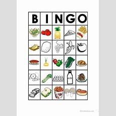 Food Bingo Worksheet  Free Esl Printable Worksheets Made By Teachers