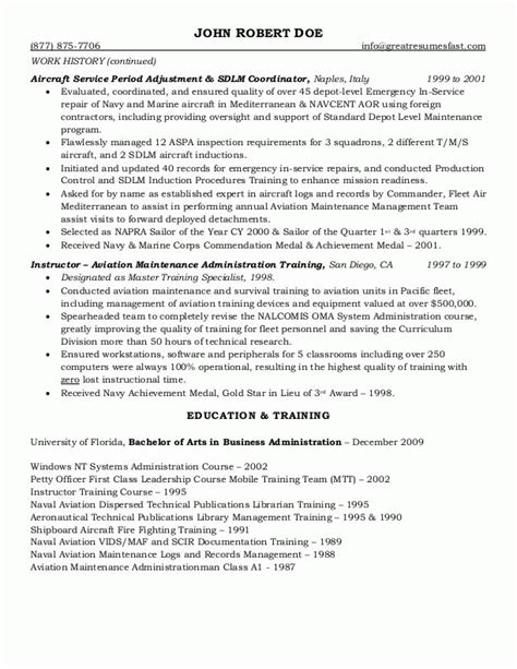 Government Resume Exles by Sle Resumes Federal Resume Or Government Resume