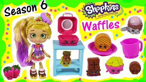 new season 6 shopkins chef club waffle collection 8 exclusives lip balm fun youtube
