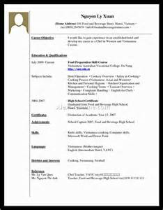 doc 756977 high school student resume format with no