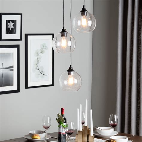 3 Light Dining Room Light by Pendant Lighting For Dining Room Suspended From The