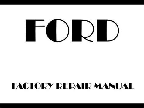 ford focus factory repair manual
