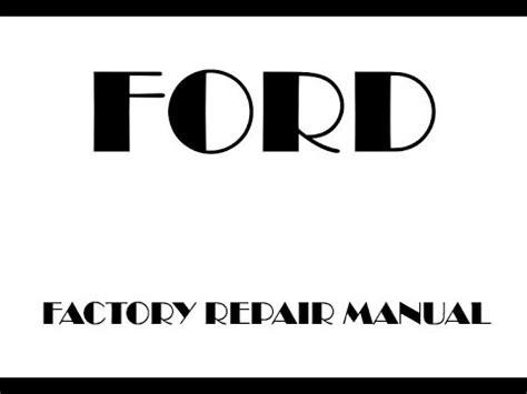 ford  factory repair manual