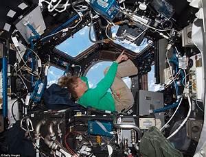 NASA photograph shows interior view of ISS Cupola module ...